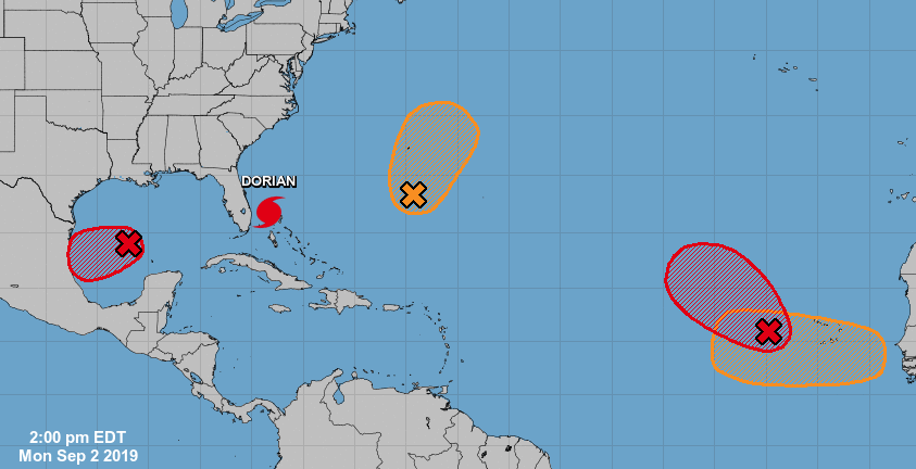 Forecasters monitoring 4 tropical disturbances in Atlantic, Gulf of Mexico